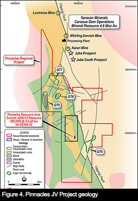 Figure 4 – Pinnacles JV Project tenement area