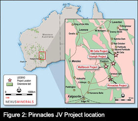 Figure 2. Pinnacles Project Location, Western Australia.