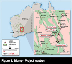 Figure 1. Triumph Project location, Western Australia
